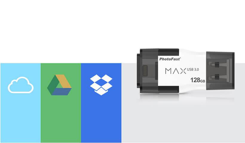 بک آپ گیری از فضای ابری با فلش مموری فوتوفست Max i-FlashDrive