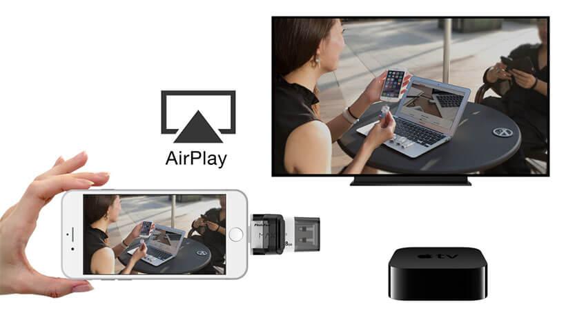 کار با airplay توسط فلش مموری فوتوفست Max i-FlashDrive
