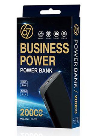 پاوربانک 67 بیزینس پاور 67Business Power 20000mAh Power Bank