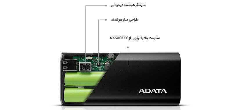 طراحی داخلی شارژر همراه Adata P12500D