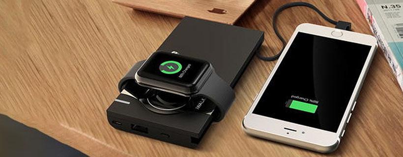 شارژ همزمان اپل واچ و آیفون با پاور بانک آی واک