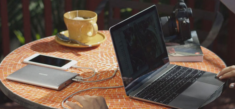 پاور بانک مک بوک کنکس Kanex GoPower Type-C MacBook 15000mAh Power Bank
