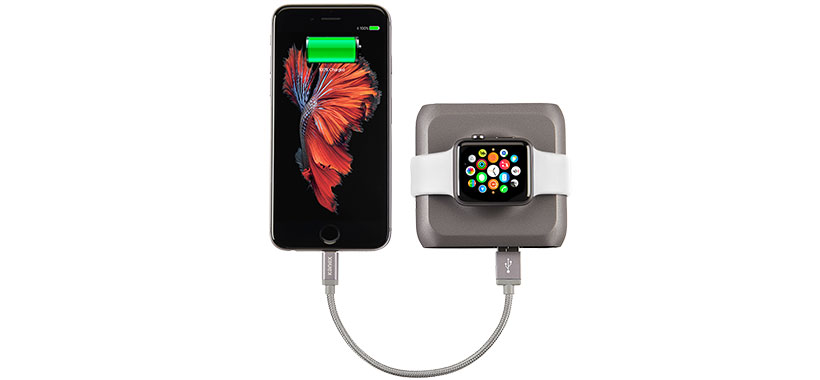 قابلیت شارژ همزمان آیفون و اپل واچ با پاور بانک کانکس