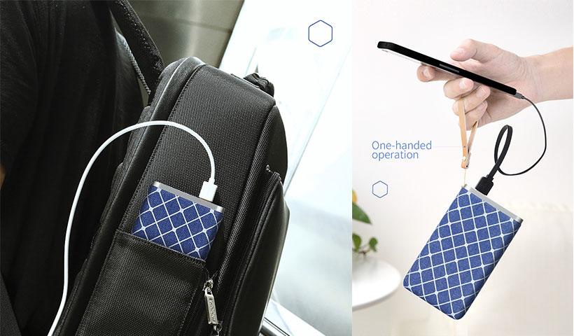 پاور بانک تایپ سی راک مدل PowerSack