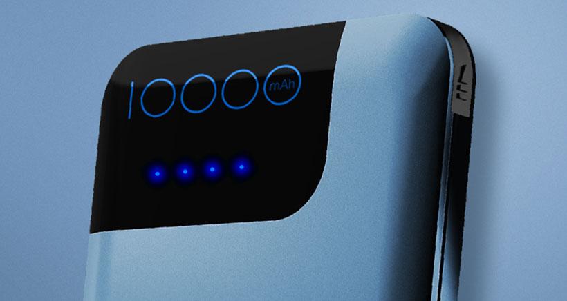 پاوربانک شارژ سریع راک Rock QC3.0 Quick Charge 10000mAh Power Bank