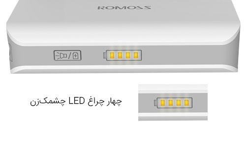 پاوربانک سولو 2 با چراغهای نشانگر میزان شارژ