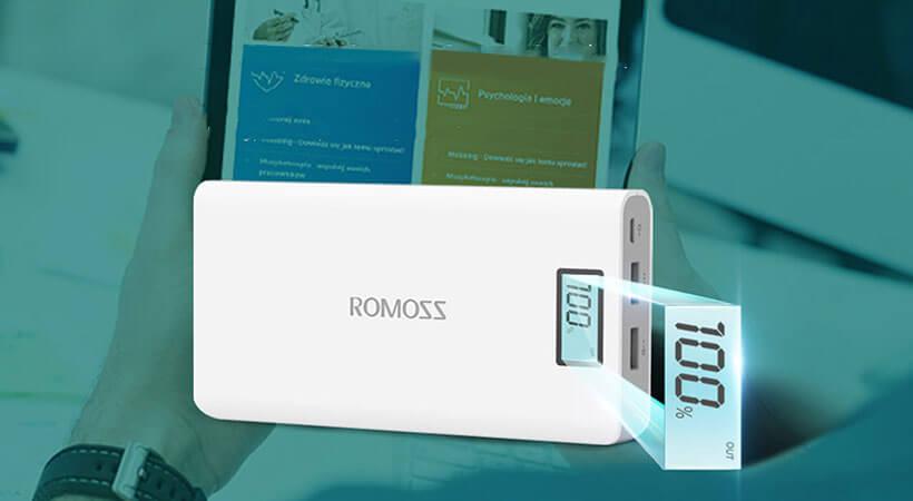 نمایشگر LCD پاوربانک روموس سولو 6 پلاس