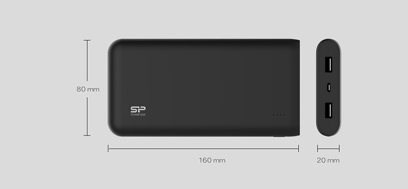 ابعاد کوچک پاور بانک اس 200