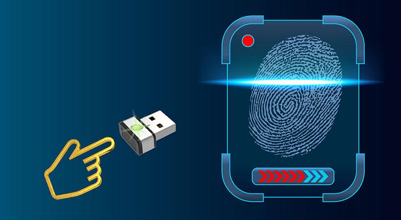 دانگل قفل امنیتی پی کیو آی PQI Fingerprint USB Dongle