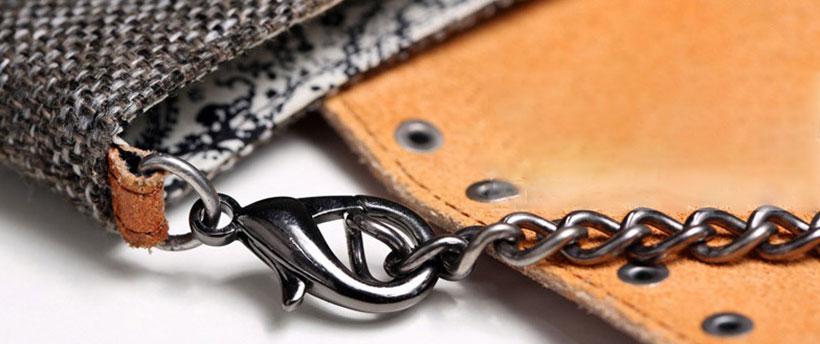بند فلزی و چرمی قابل جدا شدن کیف ریمکس