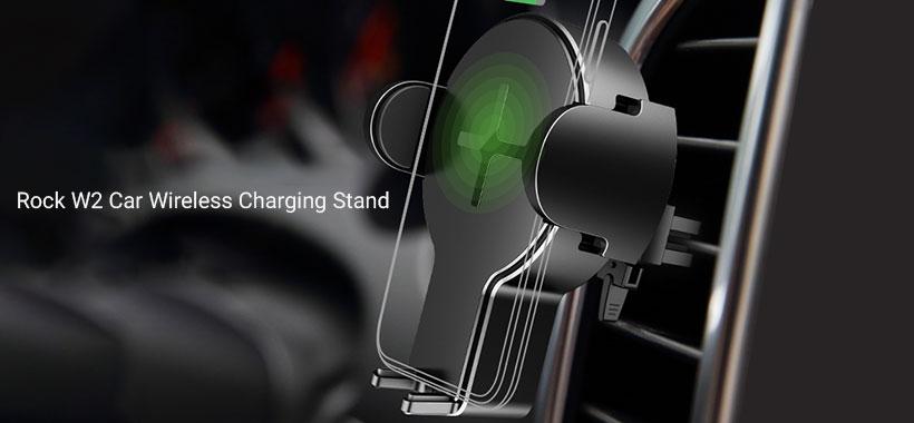استند شارژ بی سیم خودرو راک W2 Car Wireless Charging Stand