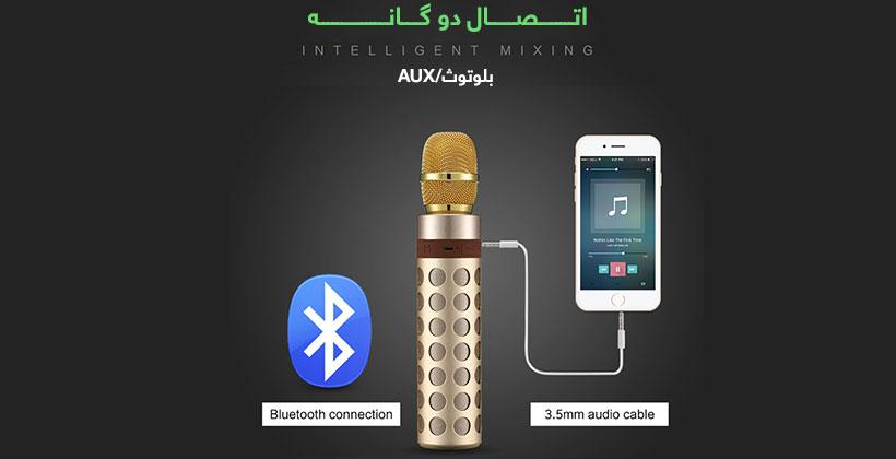 میکروفن و اسپیکر بلوتوث راک اسپیس Rockspace Wireless Microphone Speaker