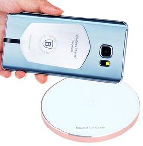 گیرنده شارژر وایرلس میکرو USB بیسوس Baseus QI Wireless Charging Receive