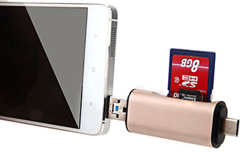 فلش چندکاره کارت خوان هوکو Hoco USB 3.0 Type-C Card Reader