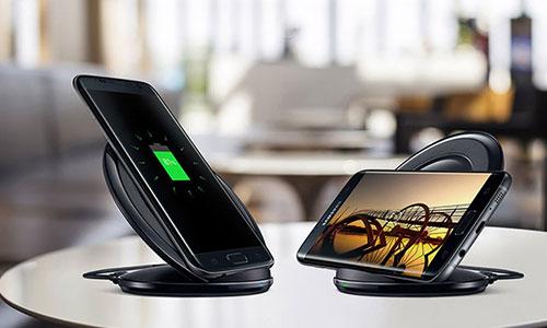 شارژر بی سیم سامسونگ دارای پایه نگهدارنده گوشی Samsung Fast Charge Wireless Charging Stand
