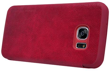 کیف چرمی نیلکین قرمز گوشی سامسونگ S7 Edge