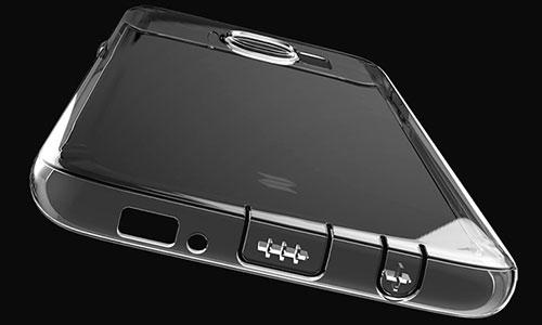 محافظ ژله ای راک Samsung Galaxy S7 Edge دارای در پوش محافظ در قسمت پورت ها برای جلوگیری از ورود غبار به داخل دستگاه