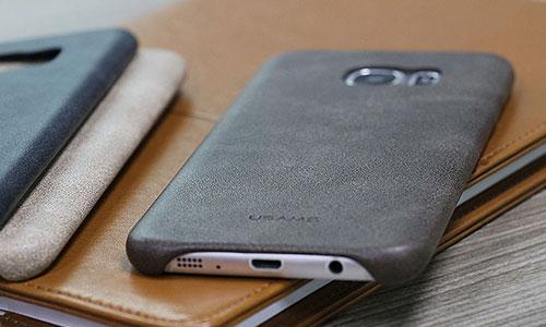 کاور چرمی Galaxy S7 Edge دارای امکان نصب و جداسازی آسان