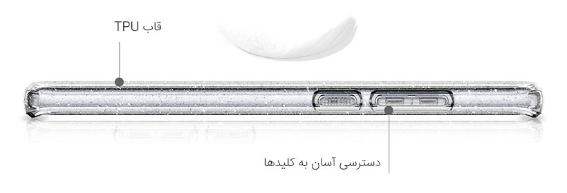 طراحی باریک و وزن ناچیز  اسپیگن نوت 8
