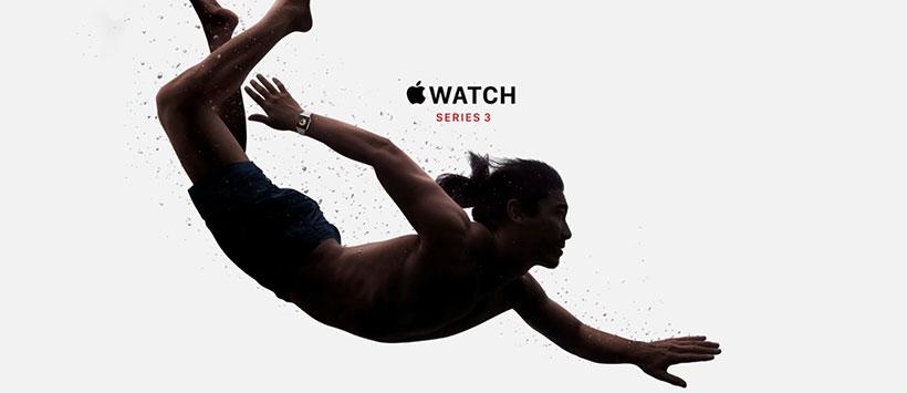 اپل واچ سری 3 ضد آب و مقاوم