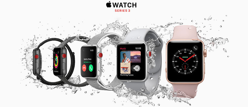 اپل واچ سری 3 با بند Pink Sand اسپرت 42mm