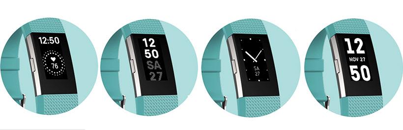 انتخاب دلخواه صفحه نمایش ساعت در بند ورزشی Charge 2