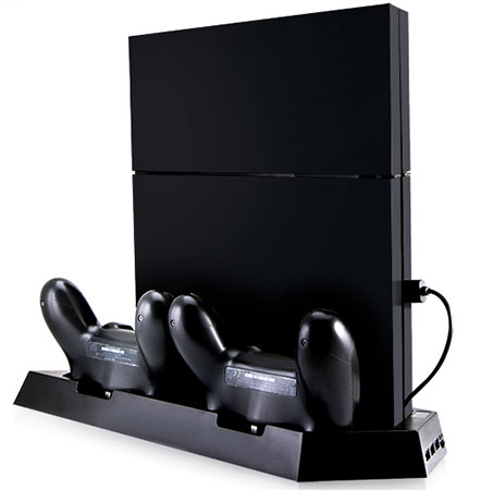 پایه فن دار سونی PS4 Vertical Stand With Fan And Dual Controller Charger