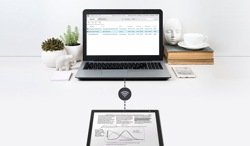 همگام سازی و به اشتراک گذاری اطلاعات با کاغذ هوشمند سونی
