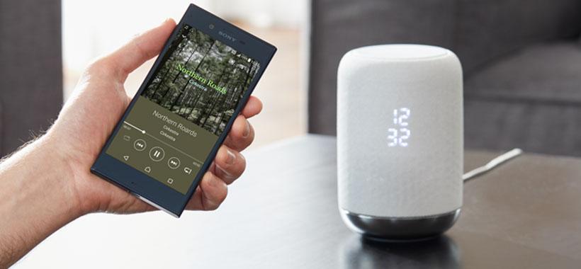 بلندگوی سونی با قابلیت اتصال از طریق بلوتوث یا NFC