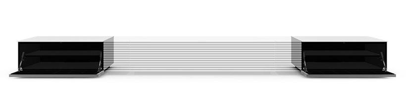 کابینت براق سفید  پروژکتور سونی برای قرار دادن وسایل