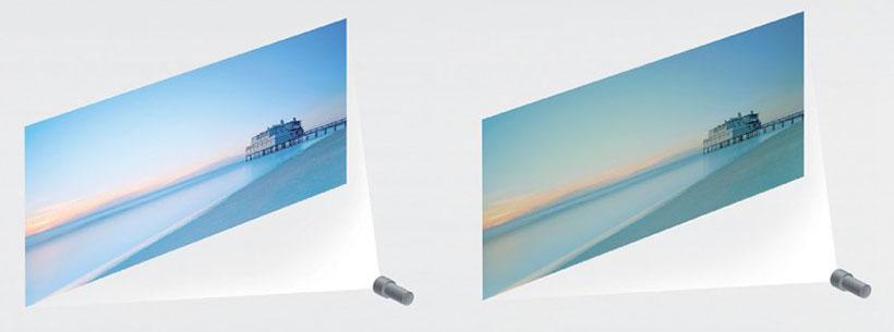 رنگ طبیعی تصاویر با لنز دقیق پروژکتور سونی 4k
