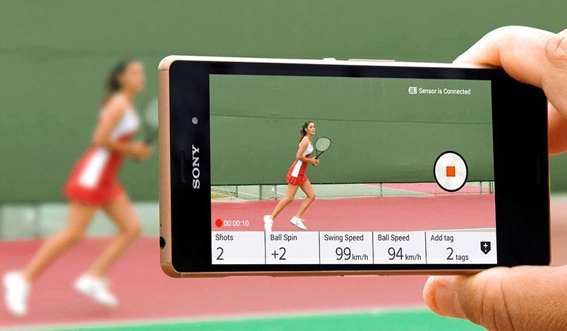 ضبط ویدئو از بازی تنیس با سنسور سونی