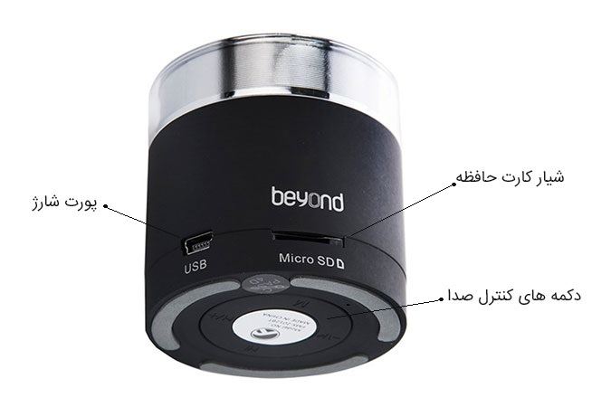 اسپیکر بلوتوث بیاند Farasoo Beyond FMS-2012 BT Speaker Bluetooth