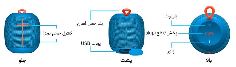 اسپیکر بلوتوث آلتیمیت ایرز Ultimate Ears Wonderboom Wireless Speaker