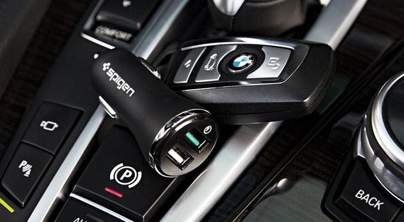 شارژر فندکی سریع اسپیگن Spigen Quick Charge 3.0 Car Charger F27QC