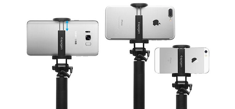 سازگاری بالای مونوپاد اسپیگن با گوشی های هوشمند
