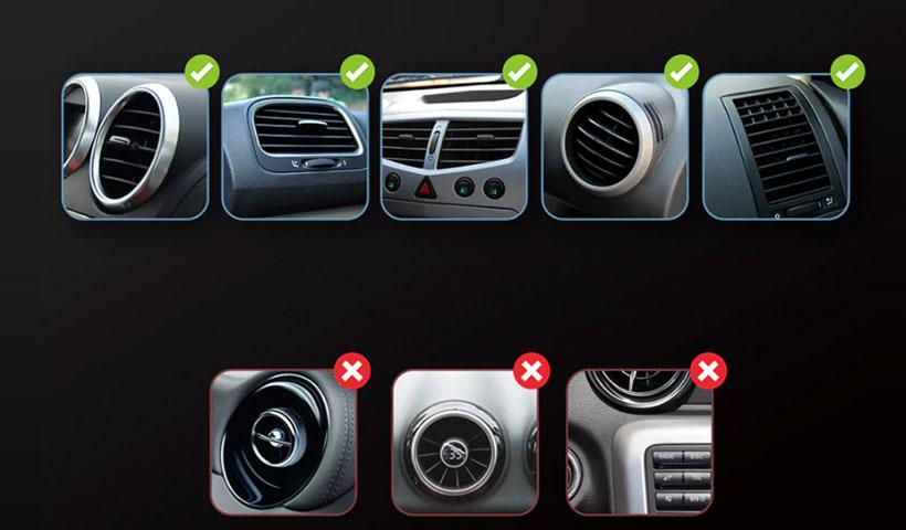 پایه ی نگهدارنده گوشی بیسوس مدل Air Vent Car Mount