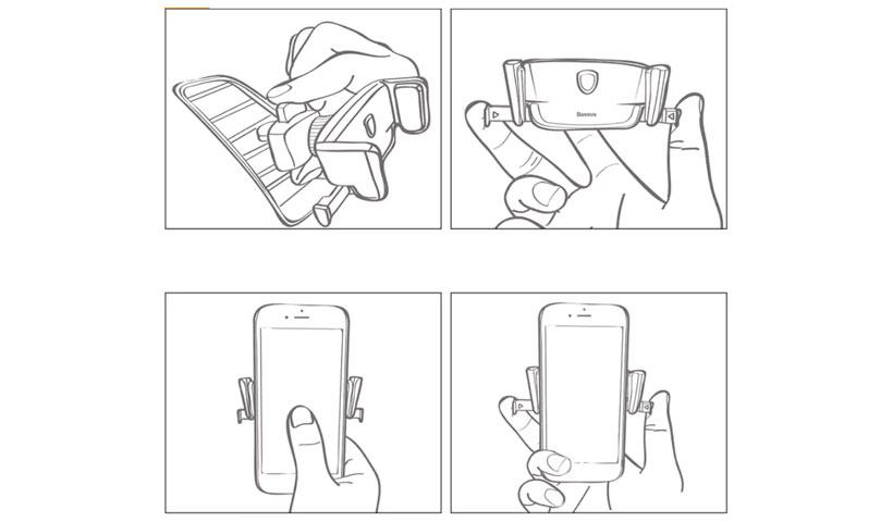 طرزاستفاده از نگهدارنده گوشی بیسوس