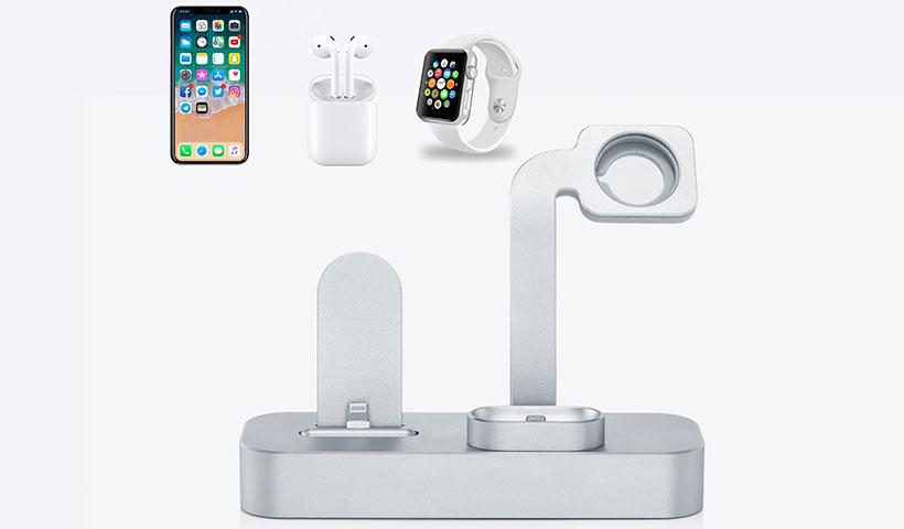 پایه شارژ اپل واچ و آیفون و ایرپاد
