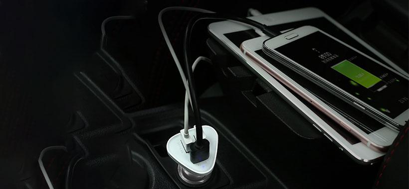 مجهز به سه پورت USB شارژر فندکی یوگرین