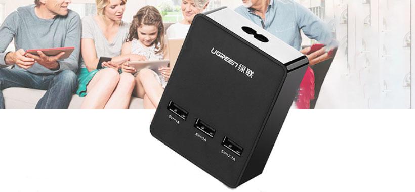 شارژر سه پورت یوگرین 3Port USB Charging Station With Cradle