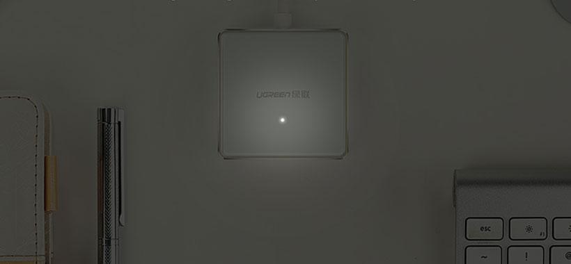 هاب 4 پورت یوگرین مجهز به نشانگر LED