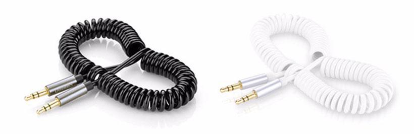 کابل انتقال صدای فنری یوگرین Ugreen AV107 AUX Cable