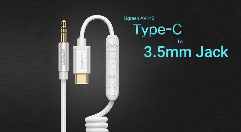 کابل تبدیل تایپ سی به جک 3.5 میلی متری یوگرین Ugreen AV143 Type-C To 3.5mm Cable