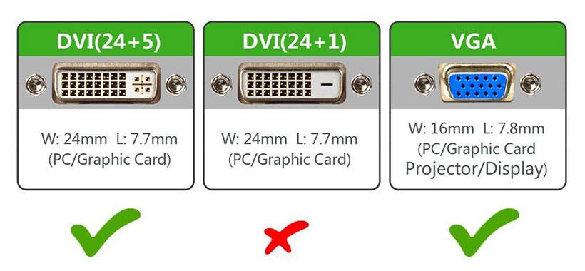 مبدل DVI به VGA از نوع 5+24