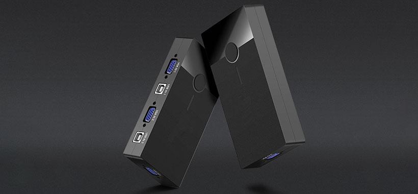 سوییچ KVM یوگرین با دو پورت USB