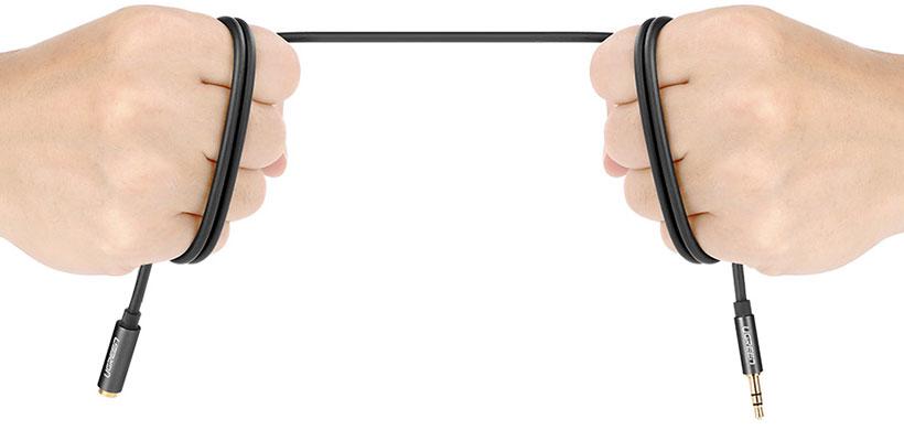 کابل تبدیل جک به پورت 3.5 میلی متری یوگرین Ugreen Male To Female 3.5mm Extension Cable