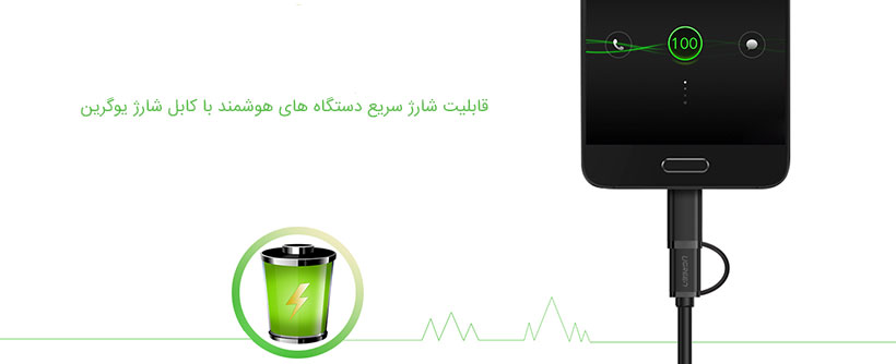 کابل شارژ یوگرین با قابلیت شارژ سریع