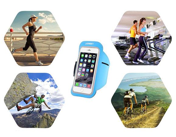 بازوبند ورزشی نگهدارنده گوشی یوگرین Ugreen Sports Smartphone Armband سایز 5 اینچ