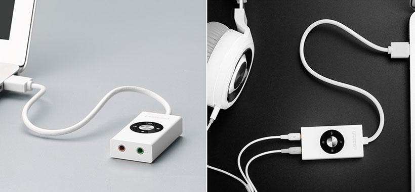 پورت صدا و میکروفون اضافه برای لپ تاپ و کامپیوتر